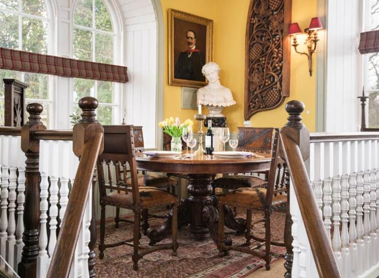 dining table in the study at rubersview